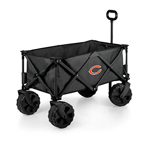 PICNIC TIME NFL Chicago Bears Elite Edition Collapsible Adventure Wagon with All-Terrain Wheels