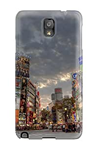 PFOtoTM709TFzIf Tpu Case Skin Protector For Galaxy Note 3 Tokyo Intersection With Nice Appearance