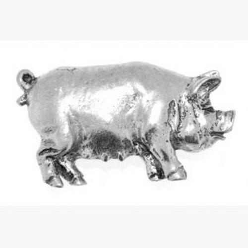 Badge àépingle en étain Pig Coffret cadeau gravé, idée cadeau Phoenix Engraving & Gifts