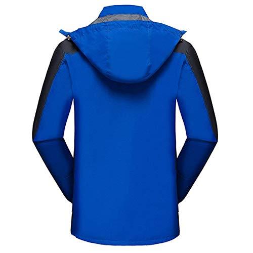 1 con De Capa para Ropa Chaquetas Chaqueta Nieve Impermeable Esquí Blau En De Rápido De Dura Transpirables Abrigo Al para Libre Chaqueta Aire Hombre Ropa Secado 3 qA80Hw