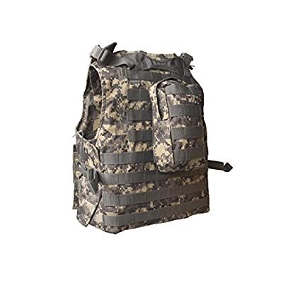 ALEKO PBTV52 Paintball Airsoft Chest Protector Tactical Vest Outdoor Sports Body Armor Camouflage