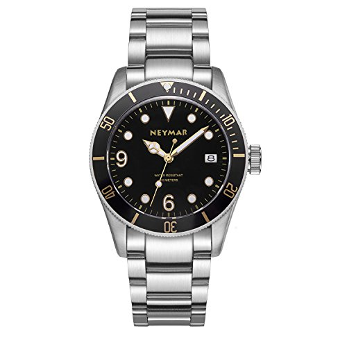 detailed look 88ea9 6ea8d NEYMAR 41.5mm Men s Automatic Watch 300m Diver Watch 200m Stainless Steel  Watch…