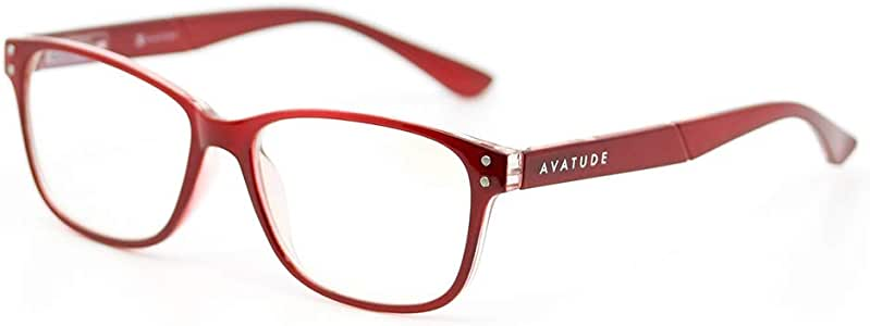 AVATUDE Blue Light Glasses for Computer Users - Delray (+1.50, Red)