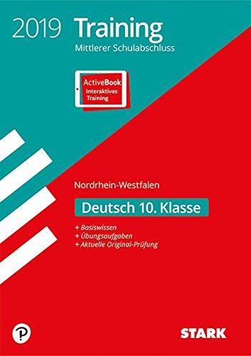 Training Mittlerer Schulabschluss NRW - Deutsch inkl. Online-Prüfungstraining: Ausgabe mit ActiveBook