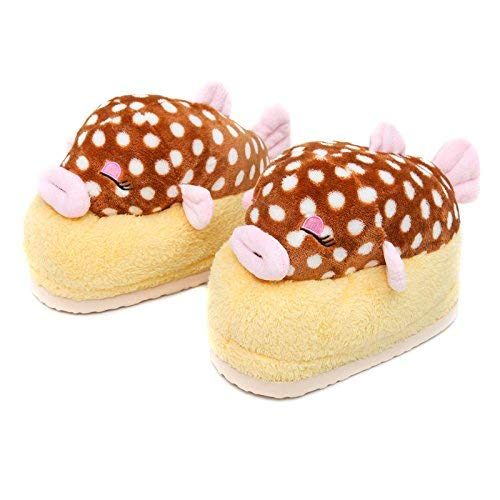 2 JaHGDU Ladies Casual Cartoon Cute Amphiprion Nigripes Pattern Cotton Slippers Home Keep Warm in Winter and Autumn Wild Stylish Slippers