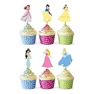 24x Cupcake Topper Picks (Princess)
