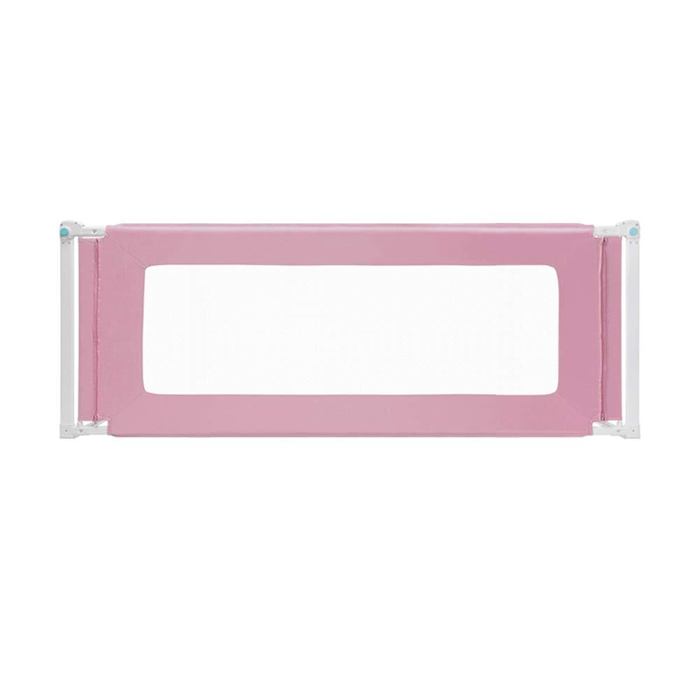 LHA ベッドガードフェンス 安全ベッドガードレール埋め込みビッグベッドサイドベビーチャイルドベッドバッフル垂直リフティングベッドフェンス-150cm、180cm、200cm (色 : Pink, サイズ さいず : L-200cm) L-200cm Pink B07L6W8S3M