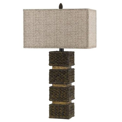 Cal Lighting BO-2169 Slatina Wicker Rattan Table Lamp by Cal