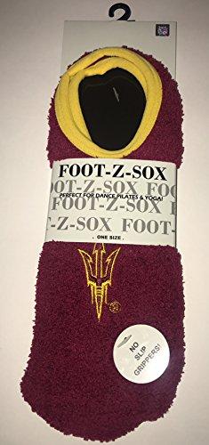 - Collegiate Slipper Socks-NCAA Super Soft Fuzzy Socks with No Slip Grip and Embroided Logo (Arizona State Sun Devils)