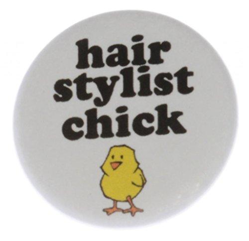 Hair Stylist Chick MAGNET (heart) - Girly Girl