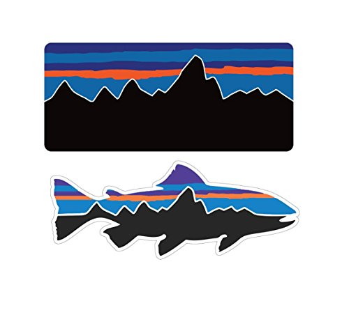 (Patagonia Fish Combo Decals Stickers Mountain Camping Travel Adventure Fishing)