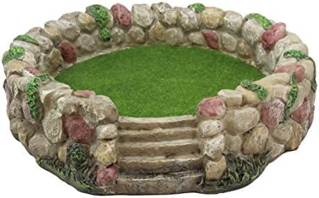 Ebros Whimsical Fairy Garden Village Nook Stone Walls Planter Landscape