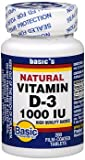 Basic Vitamins Vitamin D-3 1000 IU Film-Coated Tablets – 200 ct Review