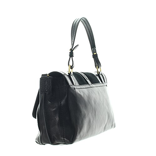 Sac à Bridge Barga Nero The goldfarben main cuir 30 cm qEAOwnR7x