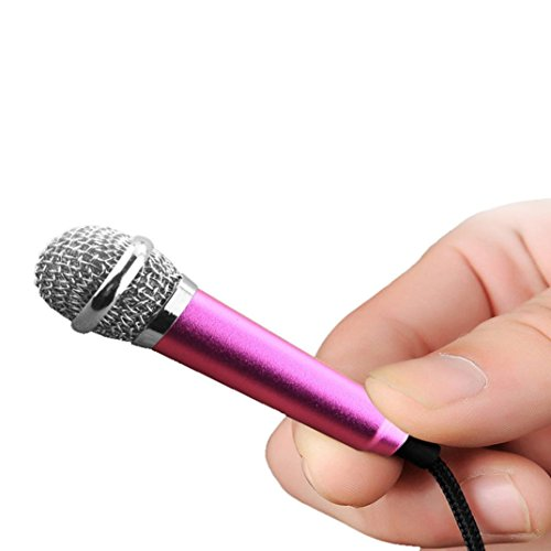 3.5mm Clip On Mini Lapel Mini Microphone For Mobile Phone (Pink) - 2