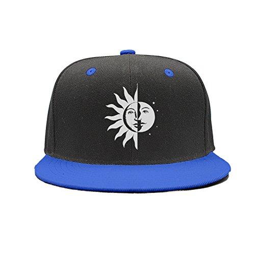 SJSNBZ Half Sun Moon And Stars Unisex Adult Mens Womens Baseball Hats Hip-hop Cap]()