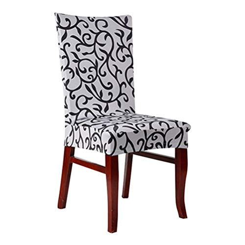 Slipcovers Soft Stretch Spandex Pattern Anti-Dirty Chair Covers for Kitchen Chair Dining Wedding Party Decoration ()