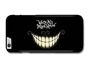 """AMAF ? Accessories Alice in Wonderland Cheshire Cat Smile We're All Mad Here Book Quote case for for iPhone 6 Plus (5.5"""")"""
