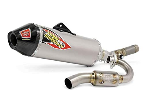 Head Pipe Circuit Titanium Pro (Pro Circuit 0351445FP Ti-6 Pro Exhaust System with Carbon End Cap)