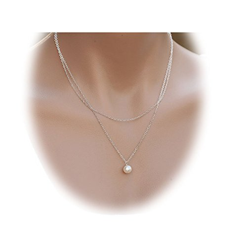 zealmer-imitation-pearl-pendant-gold-tone-double-layer-necklace-with-adjustable-chain-for-women