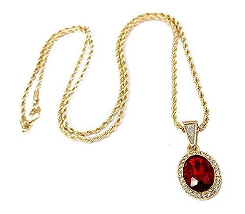 Mini Gemstone Pendant Necklace with 24