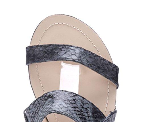 Flach Damen Sandaletten cm Sandalen Schuhtempel24 Schwarz Schuhe 1 n4qIwpR
