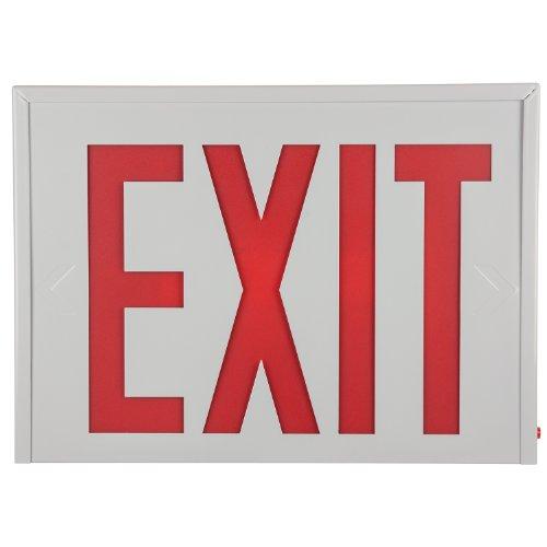 Steel Exit Sign - Sunlite 04307-SU EXIT/SU/1-2F/R/W/EM/NYC Exit Light