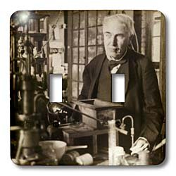 3dRose lsp_27562_2 Thomas Edison in His Lab Antiqued Tone Toggle Switch Multi-Color