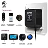24 Volt Transformer, C Wire Adapter for Nest Honeywell Ecobee and Sensi ThermostaDoorbell Transformer For Nest Hello Doorbell, Ring Video Doorbell, Ring Video Doorbell 2 & Ring Video Doorbell Pro