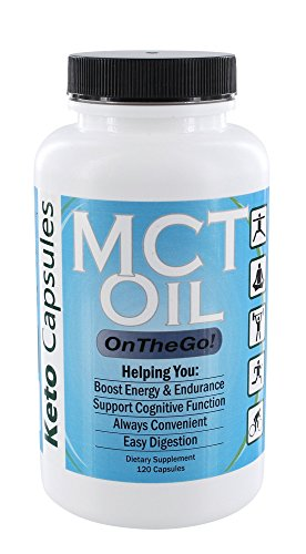 Cheap Keto Capsules: MCT Oil On The Go – 120 Capsules – Supports Natural Energy, Cognitive Function, Endurance, Aids Ketogenic Weight Loss & Easy Digestion – with Caprylic Acid