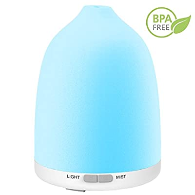 Iextreme Essential Oil Diffuser, 8 Color Changing LED Lights 120ml Aromatherapy Oil Diffuser with Adjustable Mist Mode Waterless Auto Shut-off humidifer