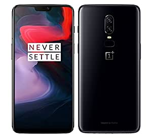 OnePlus 6 A6003 64GB Storage + 6GB Memory Factory Unlocked 6.28 inch AMOLED Display Android 8.1 - (Mirror Black) US Version with Warranty