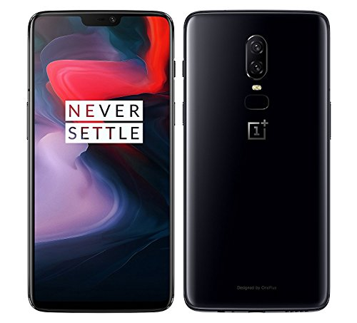 OnePlus 6 A6003 128GB Storage + 8GB Memory Factory Unlocked 6.28 inch AMOLED Display Android 8.1 - (Mirror Black) US Version with Warranty