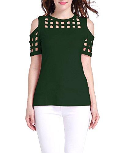 Oyanus Womens Shoulder Casual T Shirt product image