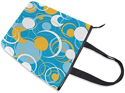 XiangHeFu Sacs à main pour femmes Drôle Art Circle Pattern Tote Canvas Shoulder Bag