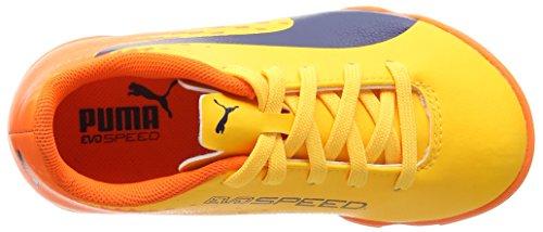 Puma Evospeed 17.5 Tt Jr, Botas de Fútbol Unisex Niños Amarillo (Ultra Yellow-peacoat-orange Clown Fish 03)