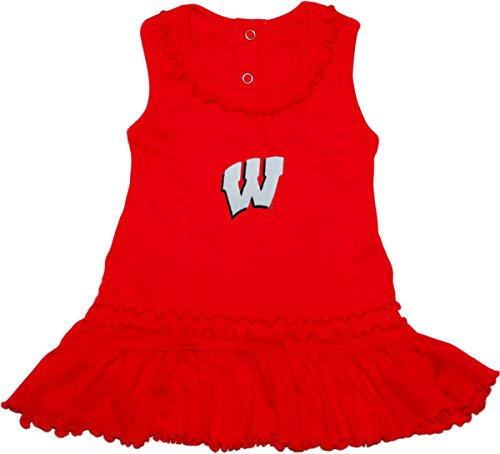 - University of Wisconsin Badgers Ruffled Tank Top Dress with Bloomer Set Red