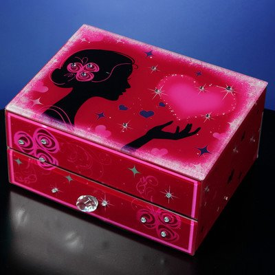 Hearts and Kisses Drawer Jewelry - Watches Francisco Wooden San