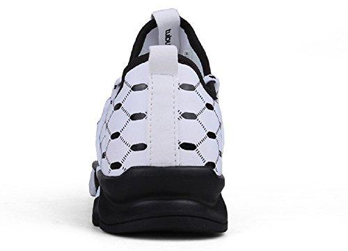 Herren Laufschuhe im Freien Lace Up Fashion Sneakers von JiYe Weiß