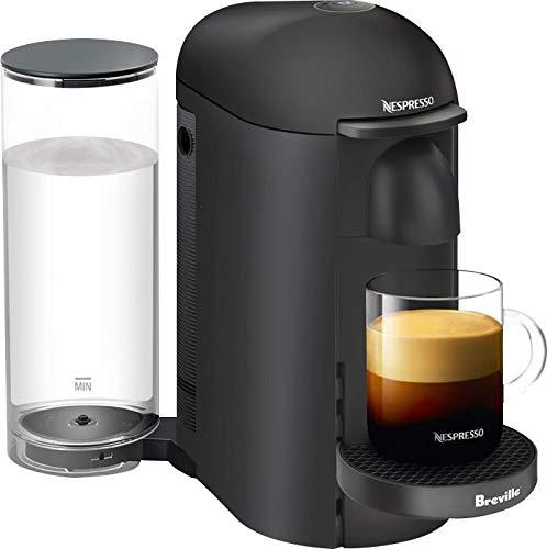 Machine Matte Black - Nespresso VertuoPlus Coffee and Espresso Maker by Breville with Aeroccino, Matte Black