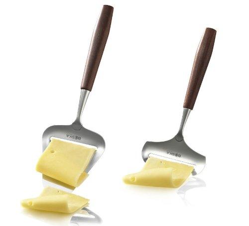 (Boska Holland De Luxe Rosewood Stainless Steel Soft & Hard Cheese Slicer 2 Piece Set)