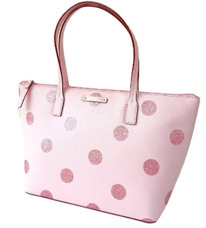 Pink Kate Spade - Kate Spade Hani Haven Lane Pink Glitter Tote Bag