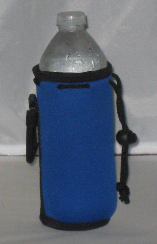 Water Bottle Cooler Insulator Neoprene with Snap, Royal
