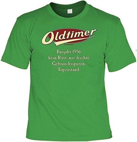 Tshirt Oldtimer Baujahr 1956 Grün Lustiges Sprüche Shirt Als