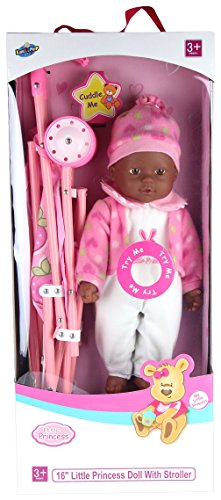 African American Baby Doll With Stroller - 1