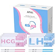 AFAC 50 Ovulation Test Strips + 20 Pregnancy Test Strips + 70 Urine Cups, Individually Packed with Aluminum Bag, Urine Test Strips (50LH + 20HCG + 70CUPS)