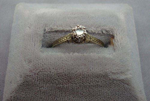 14K Gold Ring with .15ct Genuine Natural Diamonds (#962) 0.15 Ct Natural Diamond