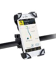 AGPTEK Soporte Movil Bicicleta Universal, Soporte de Móvil y Cámara Deportiva para Bicicleta Apoyo 360 Rotación,con 2 Silicona Banda, Brazo Ajustable Compatible con iPhone X/ 8/ 7 / 7 Plus / 6 / 6s / 6 plus, Google Nexus 5/4, HTC BQ y Dispositivo del GPS