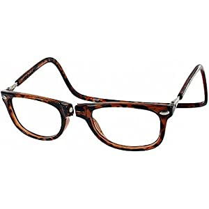 Clic Magnetic Eyeglasses Ashbury Reading Glasses in Tortoise ; +1.50