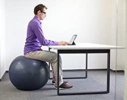 Pavandeep 2000lbs Exercise Stability Ball – Charcoal
